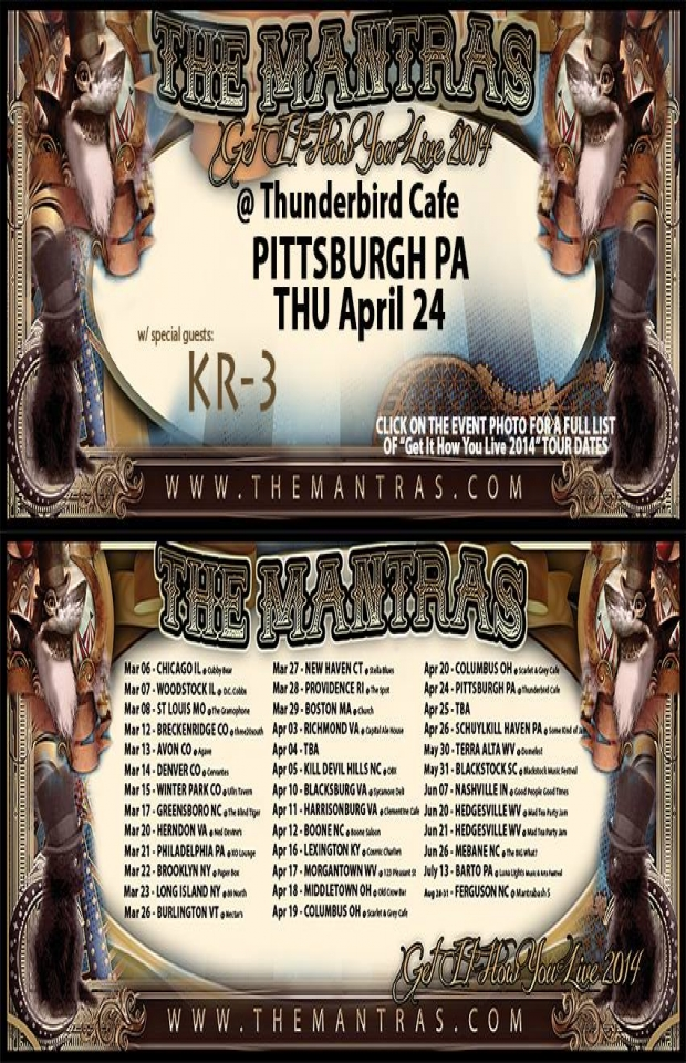 Thunderbird Cafe in Pittsburgh, PA 04/24/14 with KR-3