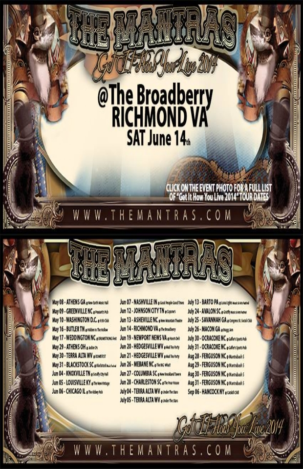 The Broadberry in Richmond, VA 06/14/14 with Spiritual Rez