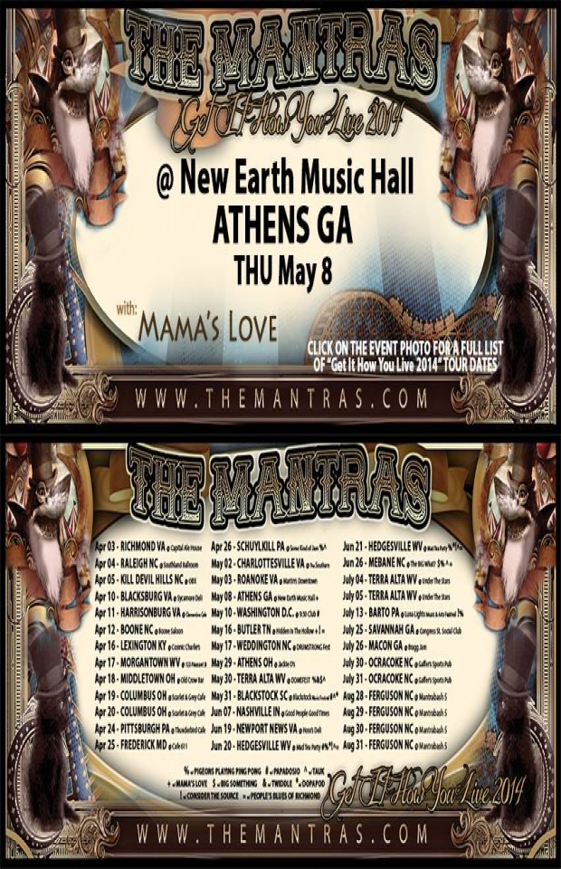 New Earth Music Hall 05/08/14 with Mama's Love