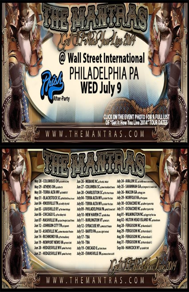 Phish After-Party at Wall Street Internation in Philadelphia, PA 07/09/14