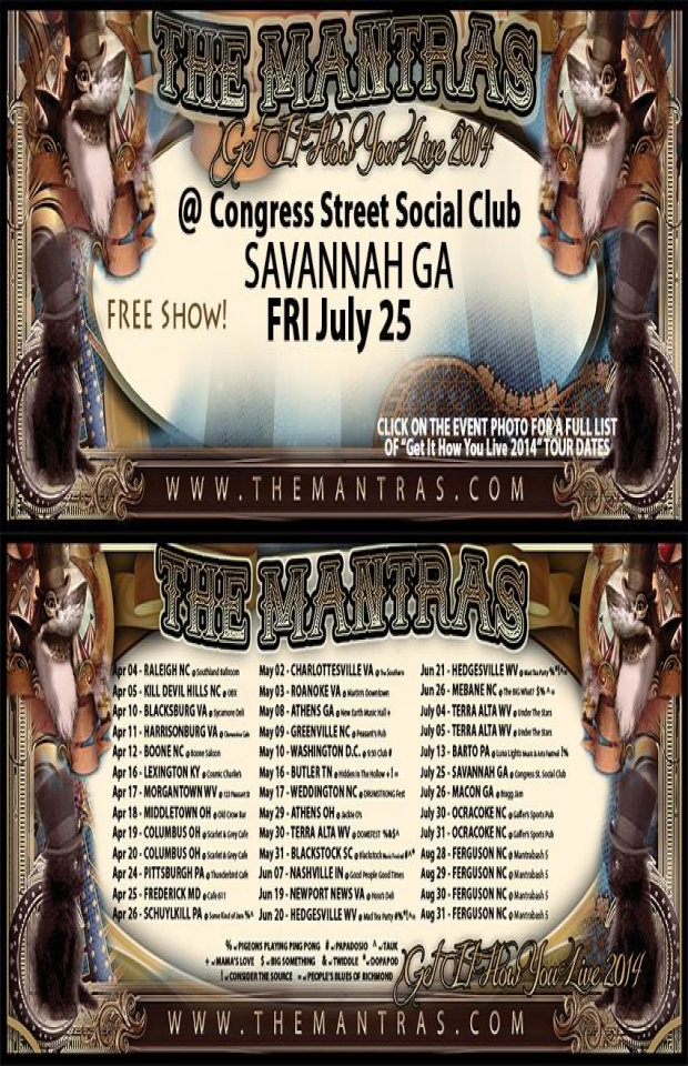 Congress Street Social Club in Savannah, GA 07/25/14