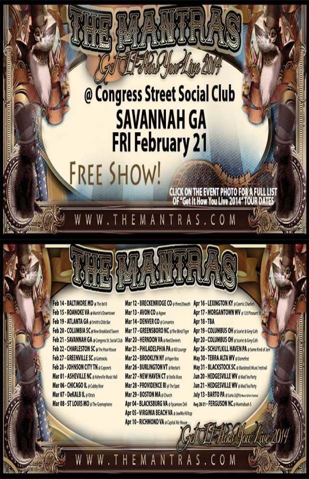 Congress Street Social Club in Savannah, GA 02/21/14