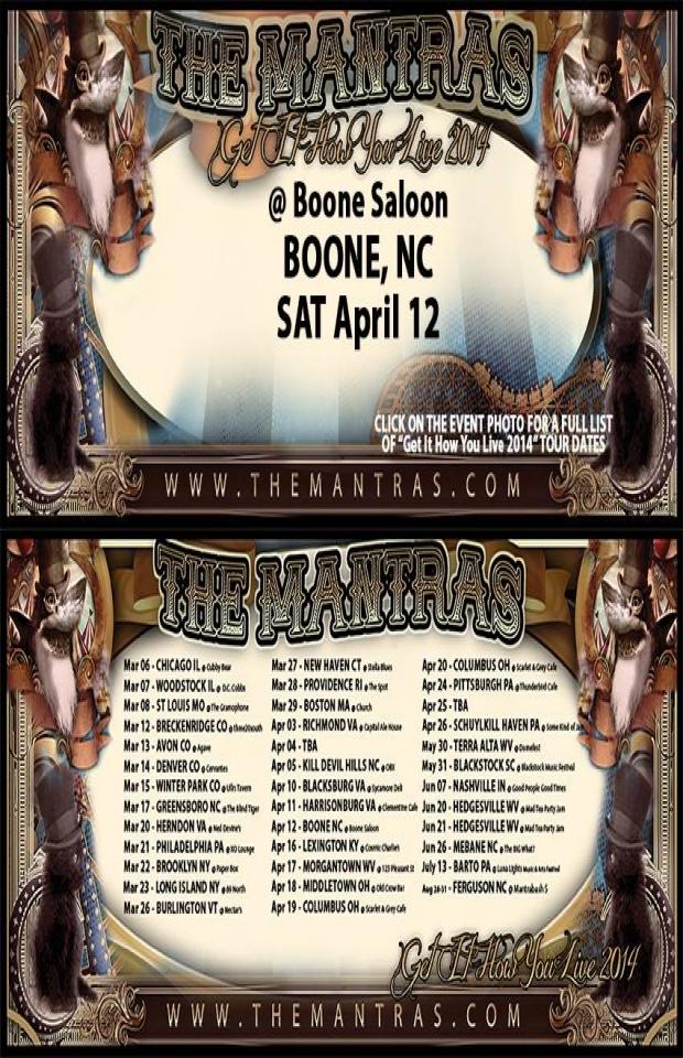 Boone Saloon in Boone, NC 04/12/14