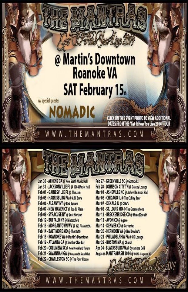 Martin's Downtown in Roanoke, VA 02/15/14 with Nomadic