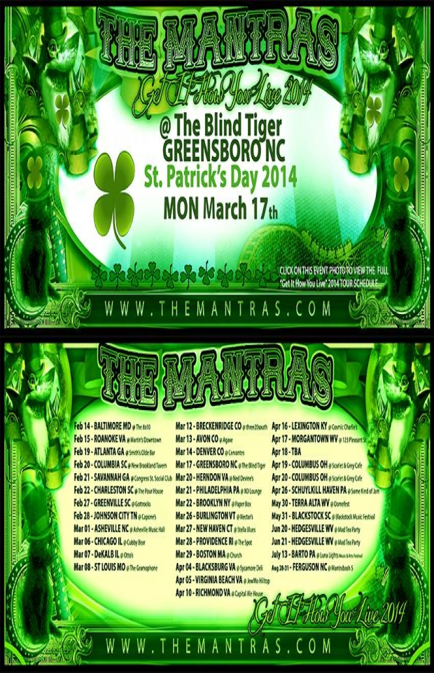 St. Patrick's Day at The Blind Tiger in Greensboro, NC 03/17/14