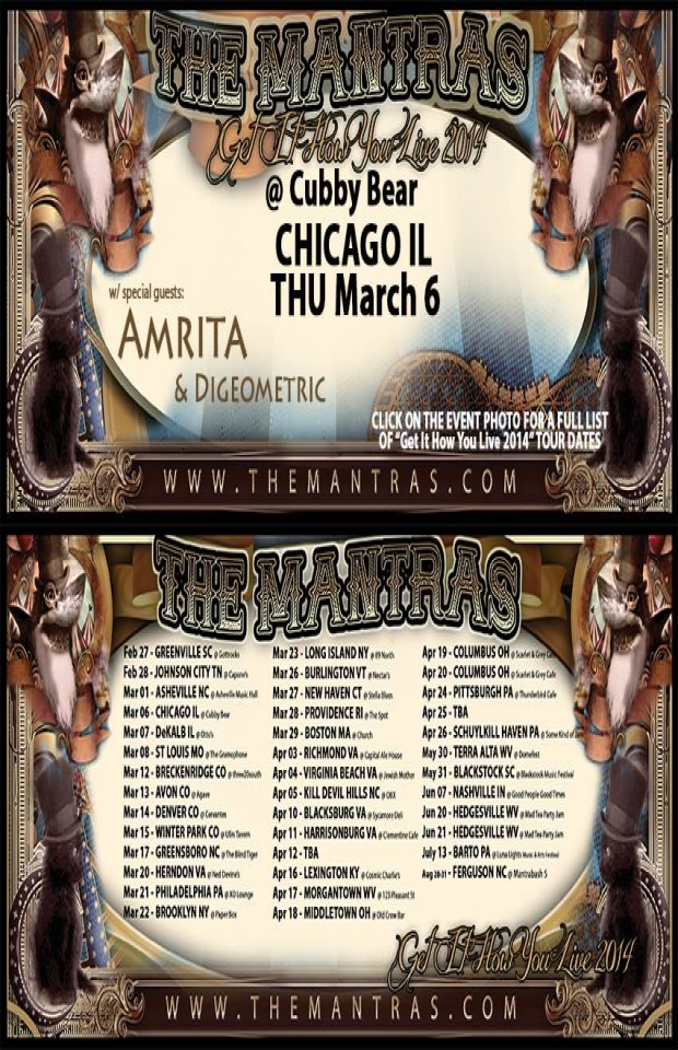 Cubby Bear in Chicago, IL 03/06/14 with Amrita and Digeometric