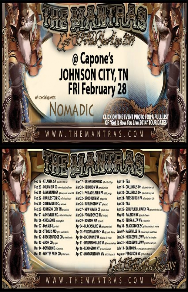 Capone's in Johnson City, TN 02/28/14 with Nomadic