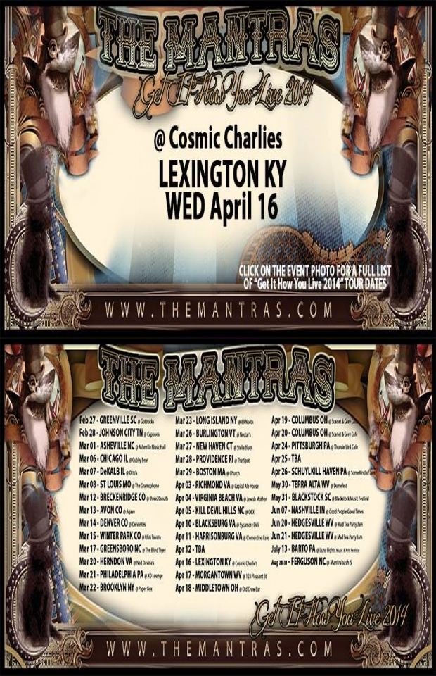 Cosmic Charlie's in Lexington, KY 04/16/14